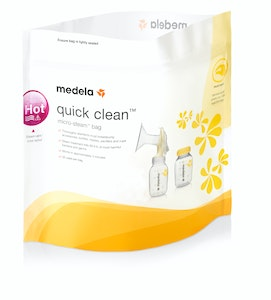 Medela Quick Clean Microwave Bags | 5 Pack, Reusable up to 10 Times Each | Kills 99.9% of Bacteria in 3 Minutes