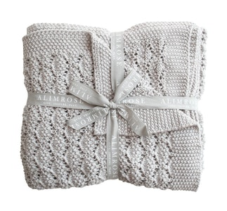 Alimrose - Organic Heritage Knit Baby Blanket - Cloud