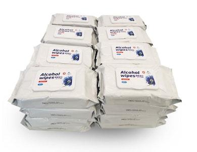 Tender Kiss Alcohol Tissue Wipe 50 pc per bag - 40 per carton
