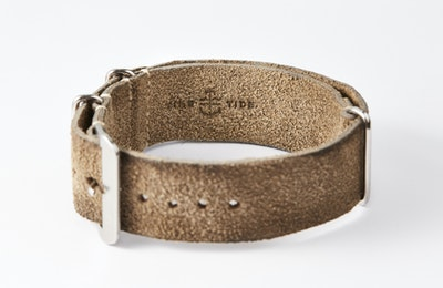 Time+Tide Watches  Distressed Grey Suede NATO Strap