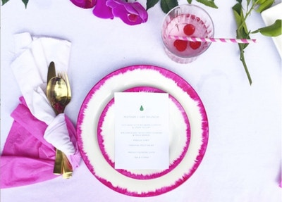 DIY IKAT INSPIRED PLATES WITH MISS BUNTING
