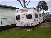 On site for the  night Hyundai Santa Fe R and GoSee Jayco Discovery at Park Lane Tourist Park Traralgon  008