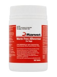 Ranvet Dog 10kg Allwormer Tablets