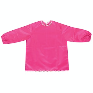 Silly Billyz Small Long Sleeve Pink Painting Apron