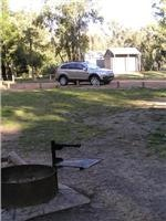 Campsite vehicle access is controlled by posts
