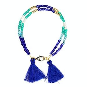 Global Sisters Shop Sofia Tassel Bracelet - Blue