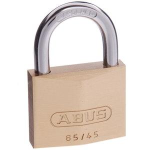 ABUS Brass Padlock 65/45 Keyed to Differ