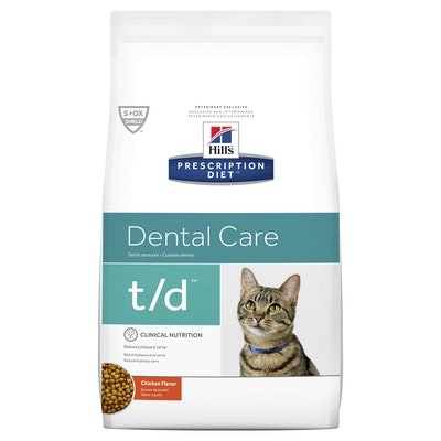 Hill's VET Hill's Prescription Diet T/D Dental Chicken Dry Cat Food