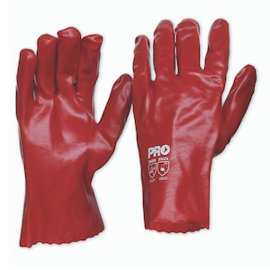 PVC Short Gloves - 27cm/Pk12