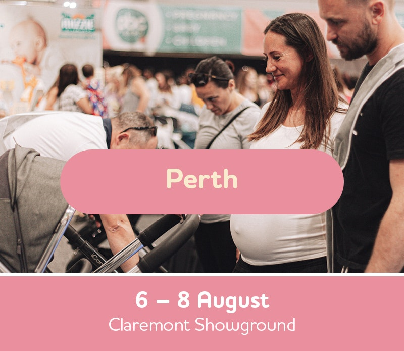 Text box with Perth Expo Dates, 6th, 7th and 8th of August, Claremont Showground
