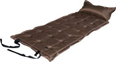 Trailblazer 21-Points Self-Inflatable Air Mattress With Pillow | Brown