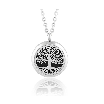 Love Thy Oils Tree of life Aromatherapy/ Essential Oil Diffuser Locket Necklace