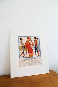 Vintage Jantzen Swimwear Advertisement | Vintage Magazine Advertising | Gift for her