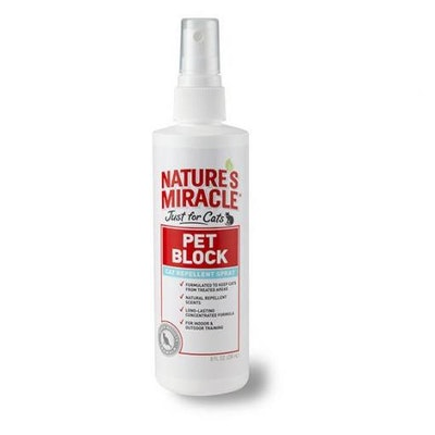 Natures Miracle Just for Cats - Pet Block Repellent Spray 236ml