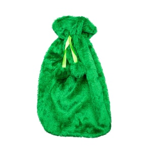 Safe Home Care Hot Water Bottle Cover Relaxing Warmer Heat Soft Bag Green