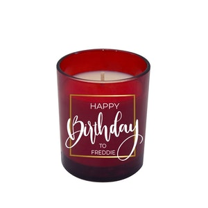 Symbolic Studio Birthday Red - Hand Poured Soy Candle