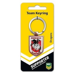 Creative Keys NRL Team Logo Key Ring - St George Illawarra Dragons