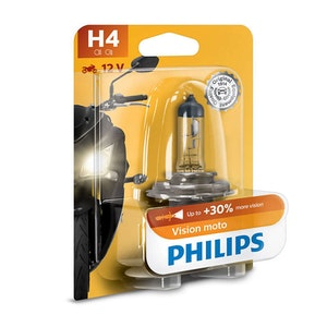 Philips VisionMoto H4 P43T 60/55W Headlight Bulb