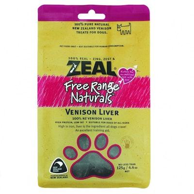 Zeal Free Range Naturals Venison Liver Dog Cat Treat 125g