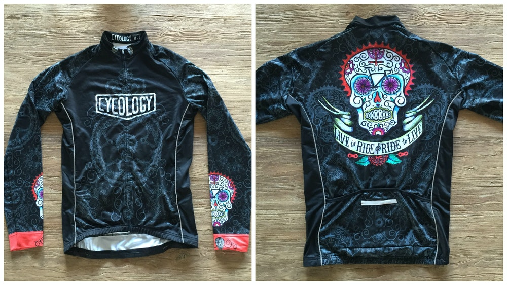 Cycology Day of the Living Men s Long Sleeve Jersey 2017 BikeExchange