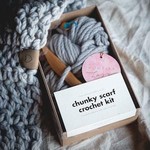 Chunky Scarf Crochet Kit - learn to crochet