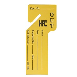 HPC Key Cabinet Key Out Tags-Pack 100