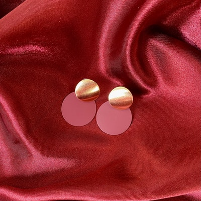 Symbolic Studio Burgundy Round Earrings