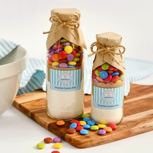 Smartie Cookie Mix - food gift - baking mix in a bottle