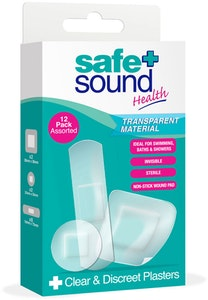 Safe + Sound Clear & Discreet Plasters