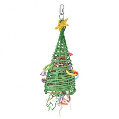 Kazoo Christmas Tree Bird Toy Small
