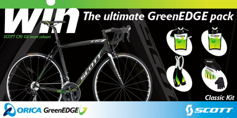 Winner of the GreenEDGE Ultimate Riders Pack