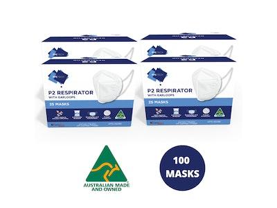 PPE Tech 100 P2 Face Masks Australian Made (Equiv. N95/KN95/FFP2)