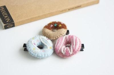 Donut Hair Clip (Handmade in Korea)