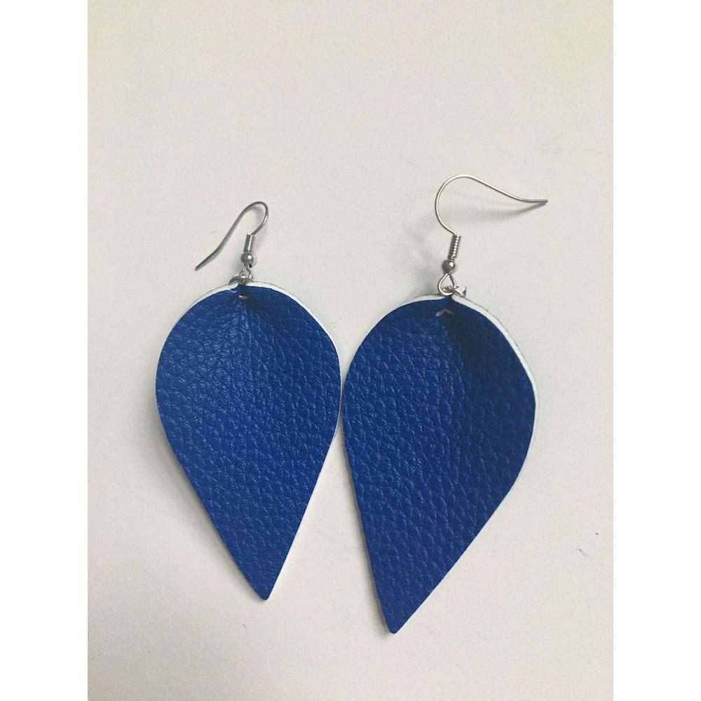 One of a Kind Club Blue Petal Shaped Earrings