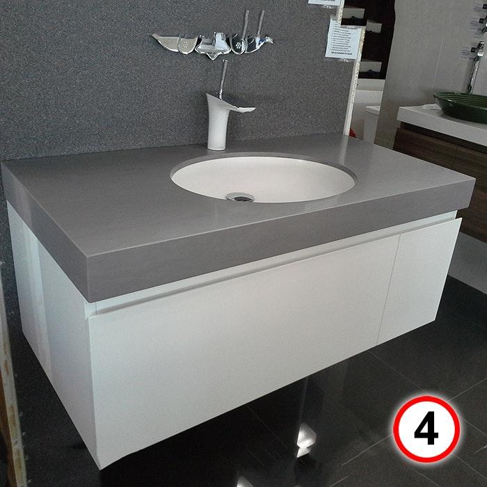 Sannine Bathrooms Polyurethane Vanity 1000x500 Corian