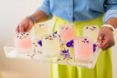 DIY PANSY ICE TRAY BY JANIE MEDLEY