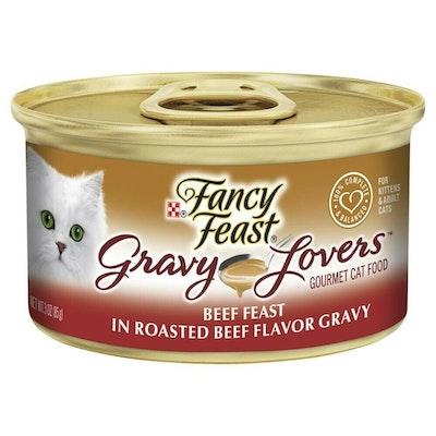 Fancy Feast Gravy Lovers Wet Cat Food Beef Feast in Roasted Beef Gravy 24 x 85g