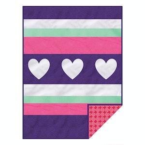 Silly Billyz Hearts Girl Design Fleece Blanket
