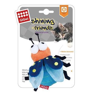 GIGWI Shinning Friends Firefly w/ Catnip Interactive Cat Toy