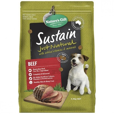 NATURE'S GIFT Sustain Adult Beef Dry Dog Food