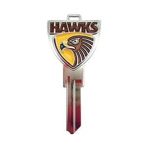 Creative Keys AFL Team Logo Key Blank LW4 – Hawthorn Hawks