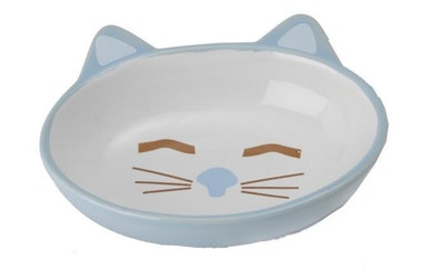 Petrageous Here Kitty Ceramic Cat Bowl Oval - 2 Colours