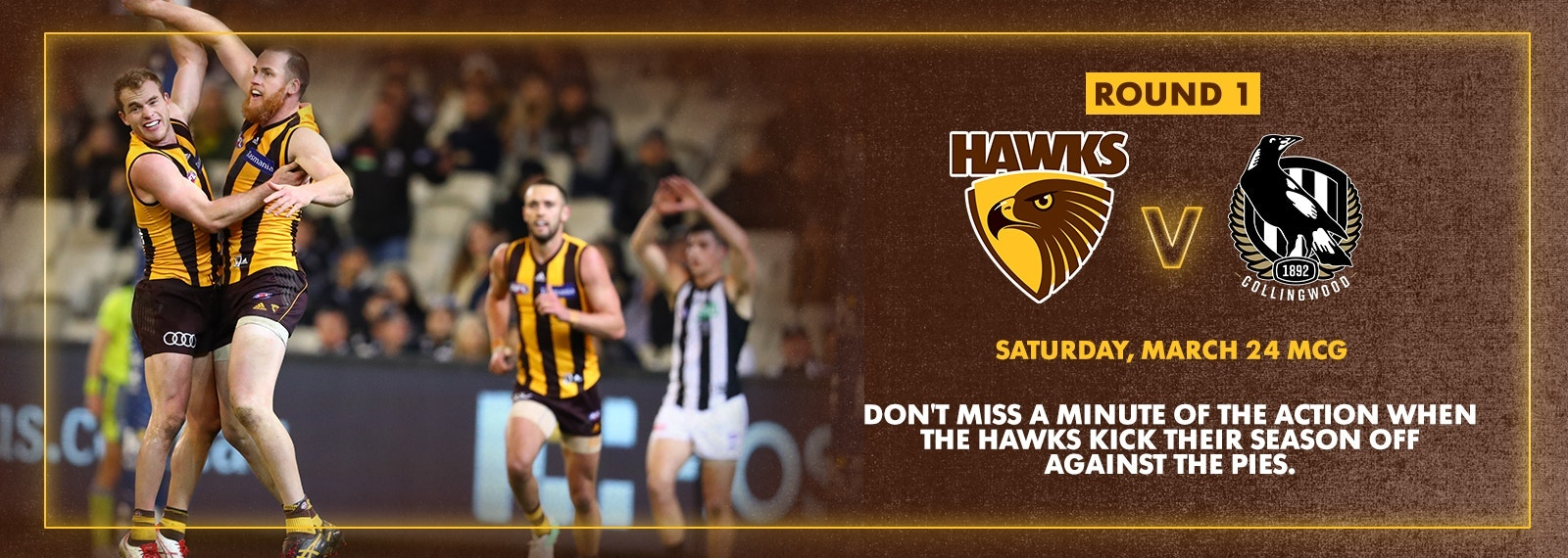 The Hawks set for a special Round 1 Clash