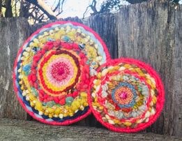 Together Forever Woven Circular Weaving