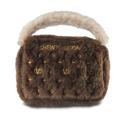 Dog Diggin Designs Brown Chewy Vuiton Bag Dog Toy