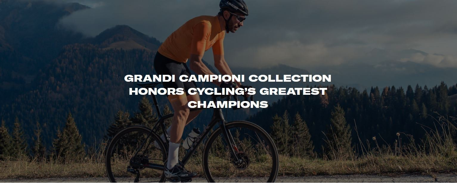GRANDI CAMPIONI COLLECTION HONORS CYCLING'S GREATEST CHAMPIONS