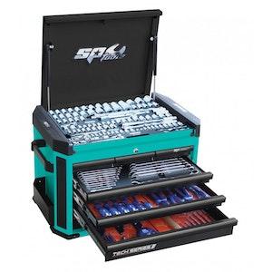 Tool Kit 223 Piece METRIC/SAE Tech Series TEAL/BLACK HANDLES SP52534T