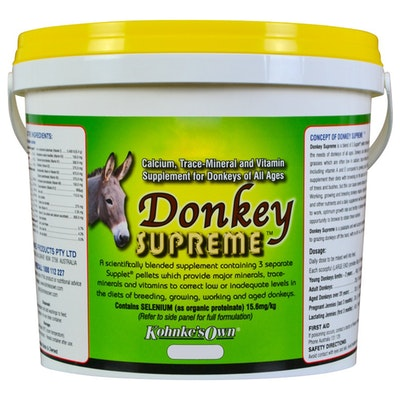 Kohnkes Own Donkey Supreme Concentrated Mineral Trace Supplement - 3 Sizes