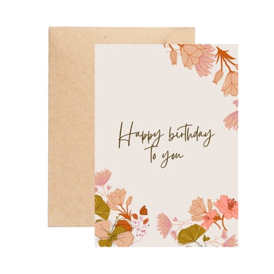 Aire Avenue Floral Birthday Card