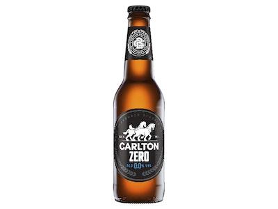 Carlton Zero Non Alcoholic Beer Bottle 330mL